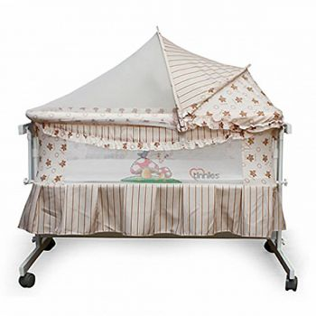Tinnies Baby Crib For New Born Beige (G70)