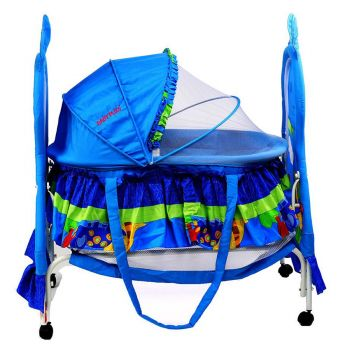 BABY PLUS Baby Crib BP8297 Blue