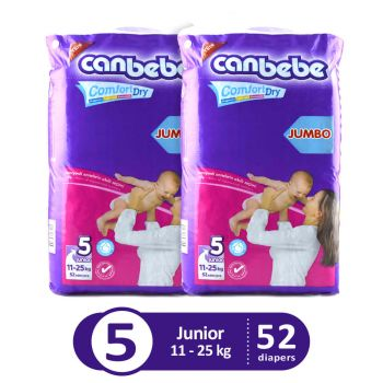 Canbebe Pack Of 2 Jumbo Pack For Junior 52Pcs
