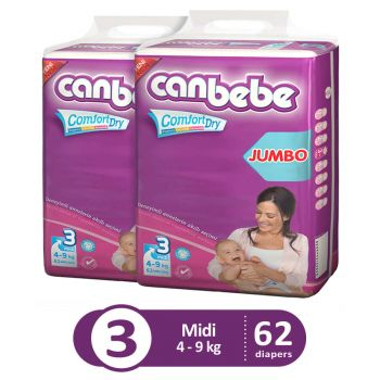 Canbebe Pack Of 2 Jumbo Pack For Midi 62Pcs