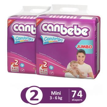 Canbebe Pack Of 2 Jumbo Pack For Mini 74Pcs