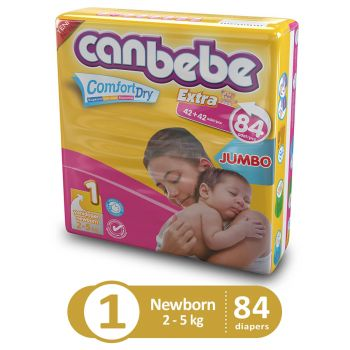 Canbebe Jumbo Pack For Newborn 84Pcs