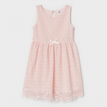 H&M Sleeveless Lace Dress - Pink