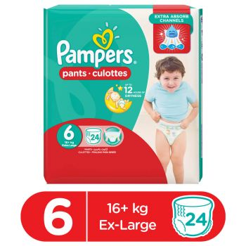 Pampers Pants Diapers XX Large Size 6 (24 Count)