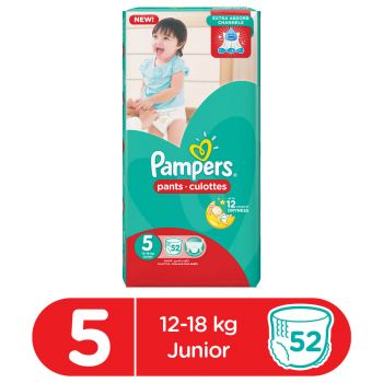 Pampers Pants Diapers Mega Pack Junior Size 5 XL (52 Count)