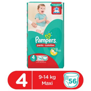 Pampers Pants Diapers Mega Pack Large Size 4 (56 Count)