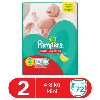 Pampers Pants Diapers Mega Pack Small Size 2 (72 count)