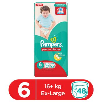 Pampers Pants Diapers Mega Pack XXLarge Size 6 (48 Count)
