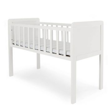 Mothercare Hyde Crib White Including Mattress