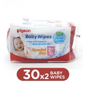 Pigeon Baby Wipes 30 Sheets 2in1 (P177)