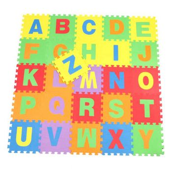 Planet X Abc Foam Floor Mat Capital Alphabets 11inch Square Pieces (PX-10324)