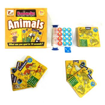 Planet X Animals Knowledge Box Educational Learning Cards Game (PX-10457)