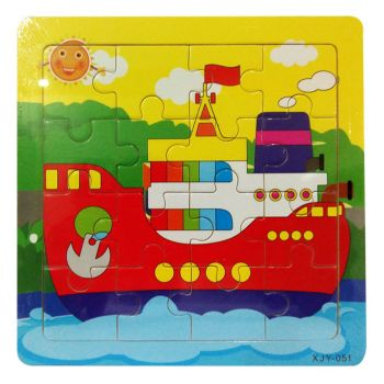 Planet X Boat Ship Wooden Jigsaw Puzzle 6inch (PX-10447)
