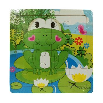 Planet X Frog Wooden Jigsaw Puzzle 6inch (PX-10439)