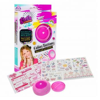 Planet X Girl'S Creator Kids Color Tattoo Party Set Removable (PX-10545)