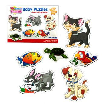Planet X Pre-School Baby Toddler Puzzles Pet Animals 3 To 8 inches (PX-10350)