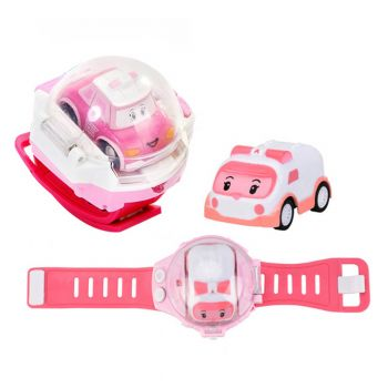 Planet X Remote Controlled Mini Ambulance Car Smart Watch For Girls Amber Pink (PX-10493)