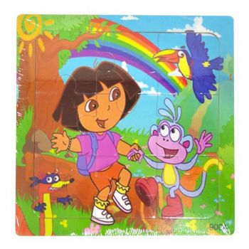 Planet X Wooden Jigsaw Puzzle Dora The Exporer 5.75inch (PX-10260)