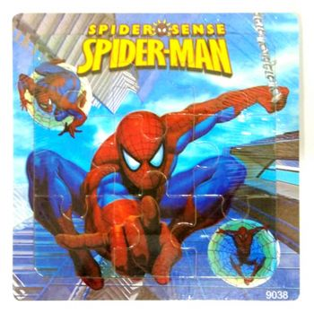Planet X Wooden Jigsaw Puzzle Spiderman Action 5.75inch (PX-10255)