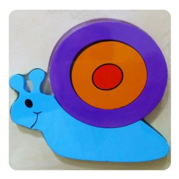 Planet X Wooden Puzzle Thick Snail (PX-10310)