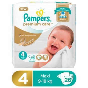 Pampers Premium Care Value Pack Diapers Large Size 4 (26 Count)
