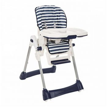 Tinnies Baby Adjustable High Chair (BG-89) - Blue Stripes