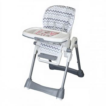 Tinnies Baby Adjustable High Chair (BG-89) - Grey Stripes