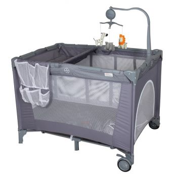 Tinnies Baby Play Pen With Rocking Grey (P614G)